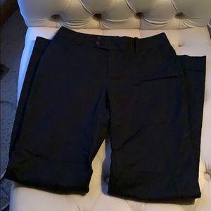 8 long wide leg black trouser